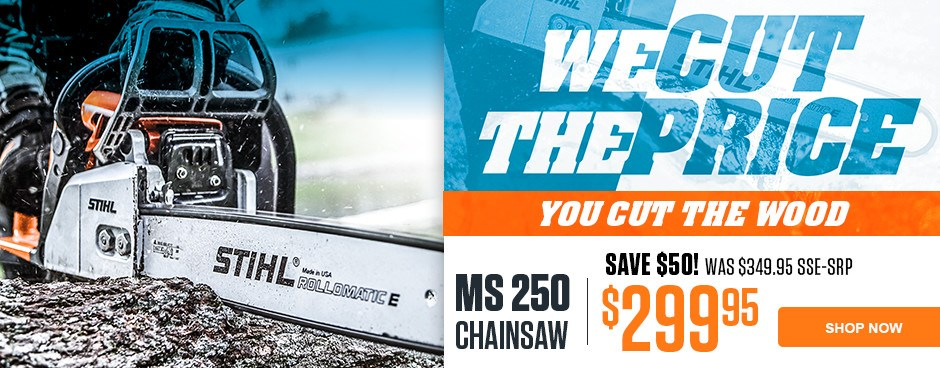 SAVE $50 on MS 250 Chainsaw